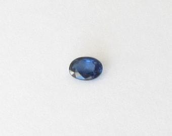 Genuine Blue Sapphire, Oval Cut, 0.48 carat