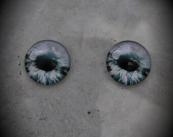 20mm Iris Cat Eye Glass Cabochon Z140