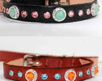 Design Your Own Dog Collar, Small Dog Collar, Swarovski Dog Collar, Custom Dog Collar