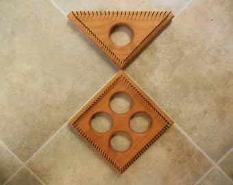 6 inch square and 6 inch triangle looms