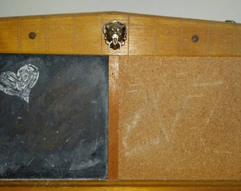 Chalkboard corkboard memo board vintage 1950-1960