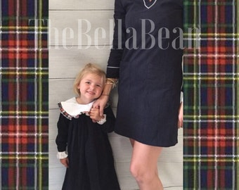 Kate Navy & Plaid Corduroy Dress