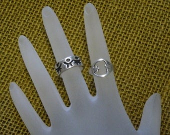 Sterling Silver - rings - vintage - small size - collectible VT165