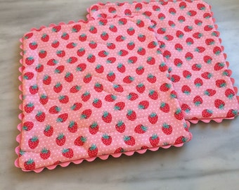 Cottage Chic Snack Mats, set of two, farm house mats , ready to ship