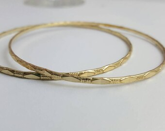 Vintage Bangle Bracelets Gold Bangle Bracelets Stacking Bracelets Vintage Jewelry Antique Jewelry