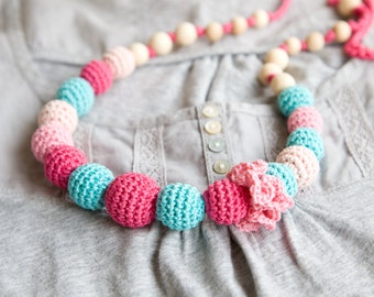 Nursing necklace - teething necklace - sling accessory