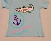 Alligator applique shirt