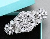 Flower Star Bridal Hair Comb, Vintage Style Wedding Hair Comb, Rhinestone Crystal Hair Comb, Wedding Hair Accessories, Bridal Alligator Clip