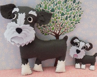 Teddy the Schnauzer Sewing Pattern. Instant Download.
