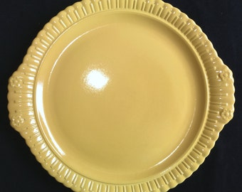 Taylor Smith & Taylor Vistosa Yellow Chop Plate in Mint, Unused Condition