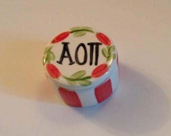 Alpha Omicron Pi Round Pin Box