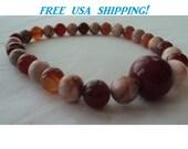 12 inch Pocket Mala 1/4 mala Marble, Agate and ceramic bead Mala Buddhist prayer beads rosary 27 beads Mala worry beads  Meditation.