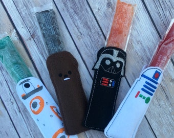Star Wars inspired Popsicle Holders, Galaxy Popsicle holders, Popsicle Holders