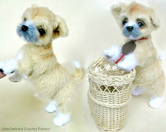 106 Crochet Pattern Shih Tzu puppy dog - PDF file Amigurumi by Chirkova Etsy
