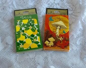 Halloween Sale Vintage Retro Artwork Bridge Card Game Score Cards Paper Table Tally Cards by Hallmark