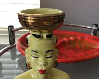 SALE Vintage Vase Head  Collectible