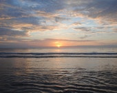 Sunrise in Blues Atlantic Ocean Ormond Beach Sunrise Blue Clouds Gray Water Florida Beach Summer Sunrise Photo Home Decor 5x7 8x10 11x14