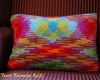 Meditation Pillow with Hand Knitted Pillow Case (Medium)