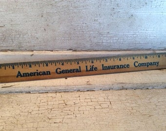 Vintage Wooden Ruler, Advertising, Printing, Architecture, Engineering, Office Supplies, wood ruler, ruler, school supplies, all vintage man