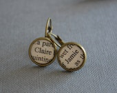Claire and Jamie Outlander Earrings