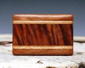 Exotic Wood Belt Buckle - Handmade with Hawaiian Koa