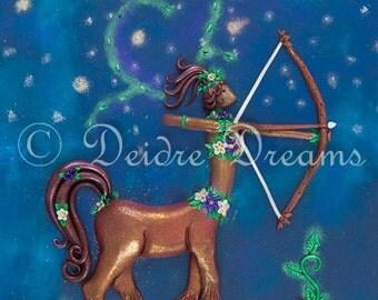 Zodiac Decor, Sagittarius Decor, Centaur Wall Art, Astrology Decor, Centaur Woman, Centaur Girl Centaur Lady Zodiac Art Boho Decor Pagan Art