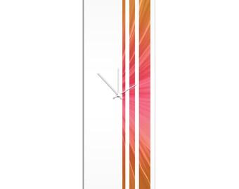 Large Modern Clock 'Autumn Triple Stripe Clock' by Adam Schwoeppe - Wall Decor Minimalist Accent Piece on Acrylic