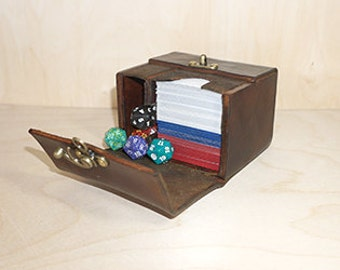 Magic Pro Tour Deck Box MTG. Holds double sleeved Standard Deck with Tokens or 155 single sleeved cards or 120+ Double sleeved.
