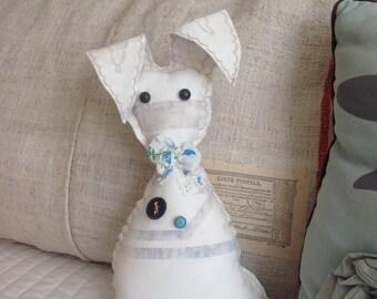 soft rabbit toy, farmhouse bunny, rabbit shelf sitter