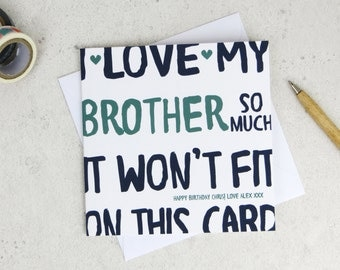 Funny Brother Birthday Card - card for brother - funny card - brother birthday - card for him - funny birthday card - little brother card