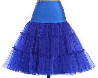 50s Swing Vintage Petticoat white, light blue, royal blue, black, red, yellow  Plus size