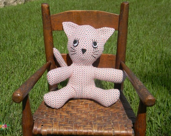 Amanda Nicole Custom Stuffed Kitty Cat - Stuffed Animal Cat - Plush Toy Cat - Plush Cat