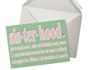 Sorority Inspired Sisterhood Note Cards (5 pack) - GREEN