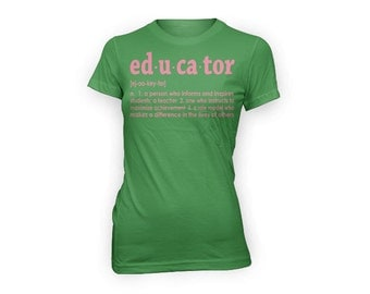 Educator Definition T-shirt (green)