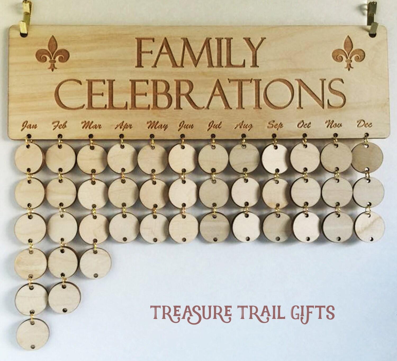 Family Celebration Board Family Birthday Board Family Calendar