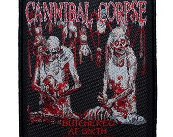 Cannibal Corpse Butchered at Birth Album Art Metal Band Sew On Applique Patch