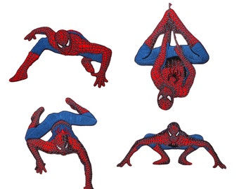 Spider-Man Patch 4-Pack Marvel Avenger Kids Superhero Comics Iron-On Appliques