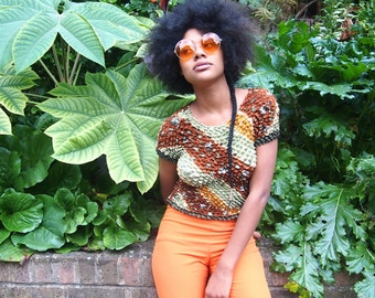 orange oversized retro sunglasses
