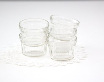 Five Vintage Jelly Jars