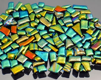 Dichroic Tiles, Itsy Bitsy Glass Tiles, Mosaic Tiles, Tiny Mosaic Tiles, Accent Tiles, Handmade Tiles