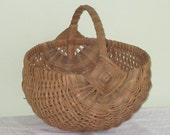 Large Vintage Woven Egg Basket
