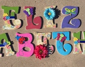 Butterfly Wood Letters, G...