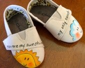 Handpainted Children's Shoes, Girls Shoes, Boys Shoes, Shoes for Kids