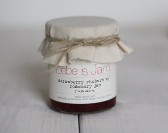 Strawberry with Rhubarb and Rosemary Jam