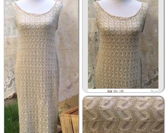 Tan knit dress