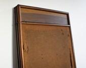 Rustic Wood & Burlap Room Screen