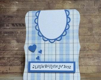 Baby Boy card, Congratulations, Handmade card, Greeting card,