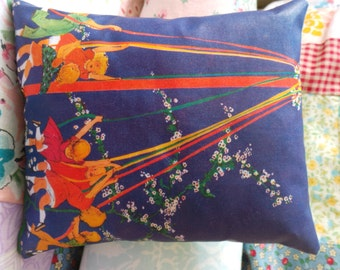 Children Dancing round the May Pole Lavender filled Pillow
