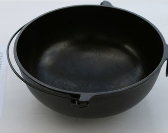 Antique GRISWOLD Fine Slant Logo 1900-1915 No. 3 Scotch Stew, Soup Bowl Professionally Cleaned & Organically Seasoned, a Beauty