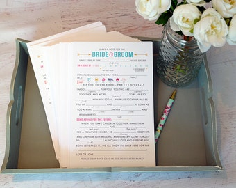 Printed Wedding Advice Cards- Wedding Fun - Day of Wedding paper - Print and Ship - Customize Yours - Wedding Advice - Wedding Paper